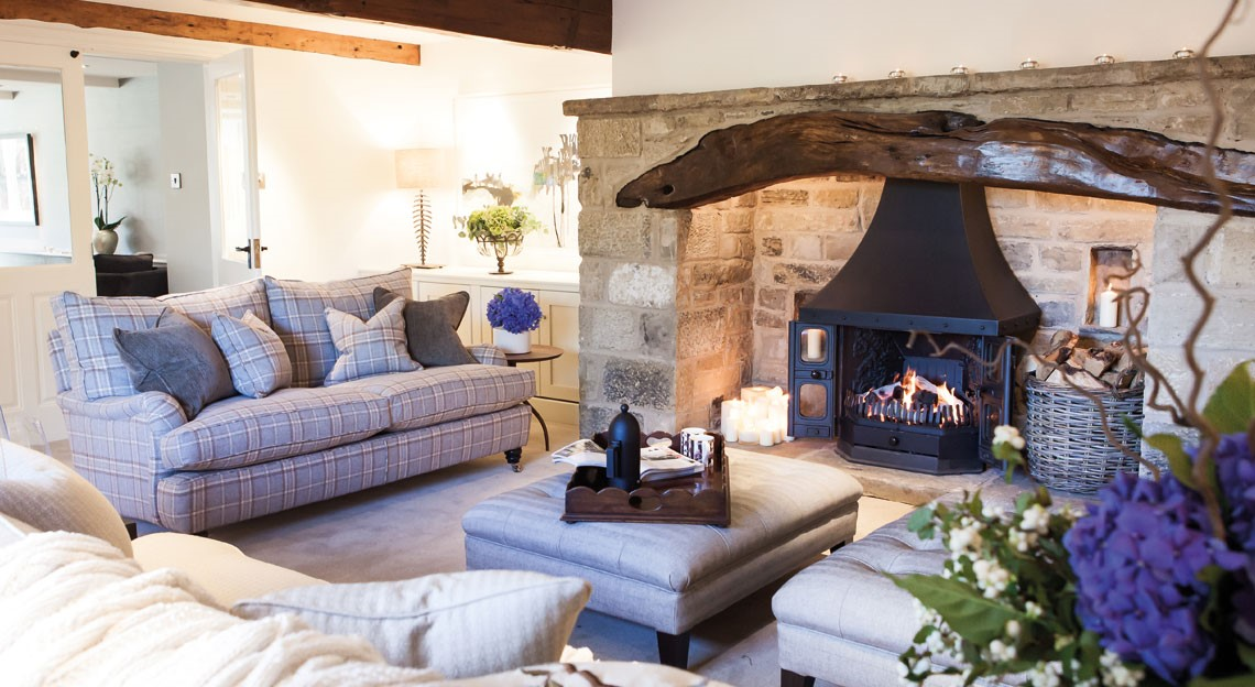 English Farmhouse Living Room